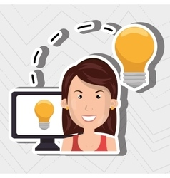 Computer user design vector