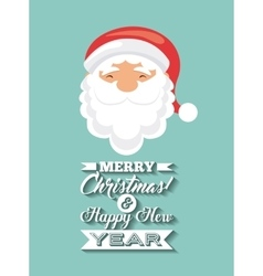 Santa cartoon icon merry christmas design vector