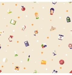 Back to school flat design icons seamless pattern vector image vector image