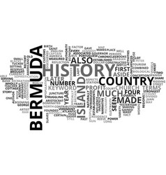 Bermuda history text word cloud concept vector