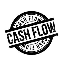 Cash flow rubber stamp vector