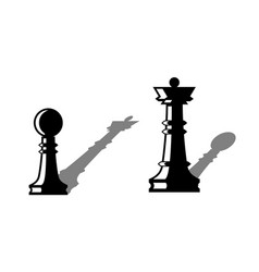 Chess figures leadership concept vector