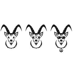 Chinese symbol goat image desi vector