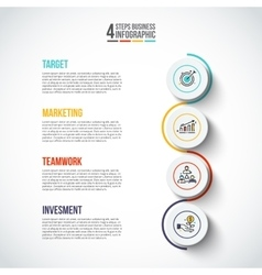 circles with thin lines for infographics vector image