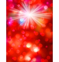 Colorful bokeh light background eps 10 vector
