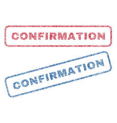 Confirmation textile stamps vector