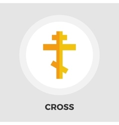 Cross flat icon vector image vector image
