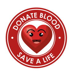 Donate blood healthcare icon vector