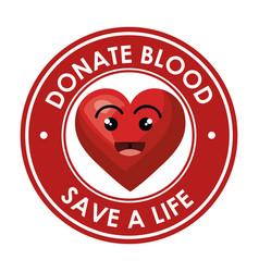 Donate blood healthcare icon vector