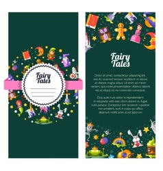 Flyer template of modern fairy tales flat design vector