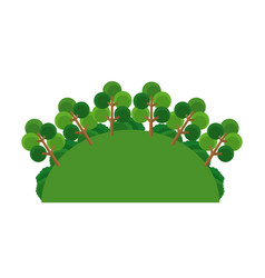 Greenery tree forest landscape natural vector