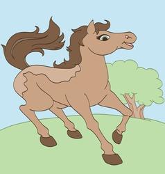 Happiest horse vector