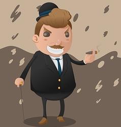 Mafia man character mascot godfather vector