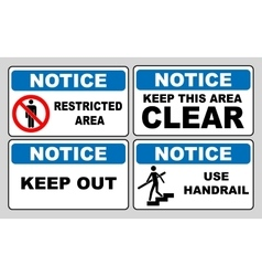 Notice information banner set vector