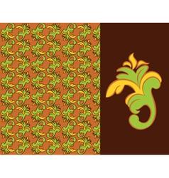 Ornate damask background vector image