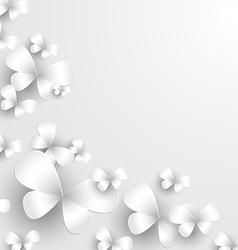 Paper butterflies vector