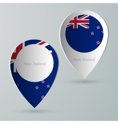 paper of map marker for maps new zealand vector image