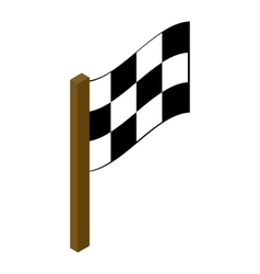 Racing flag isometric 3d icon vector image