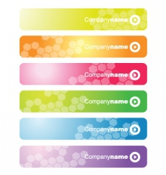 set of web banners vector image