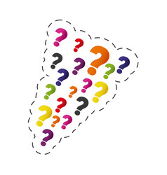Set question mark image vector