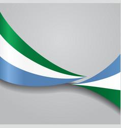 Sierra leone wavy flag vector