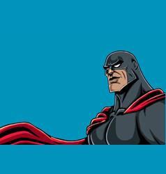superhero portrait black vector image vector image
