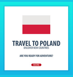 travel to poland discover and explore new vector image