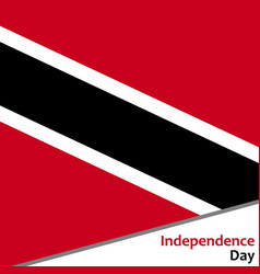 Trinidad and tobago independence day vector
