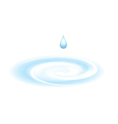 Water drop isolated on white vector image vector image