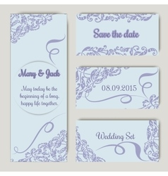 Wedding set in lavender color vector image