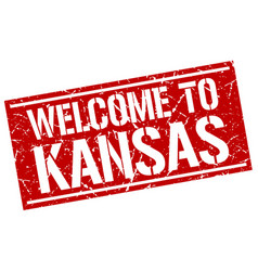 Welcome to kansas stamp vector
