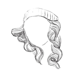 Curly fashion woman vector image