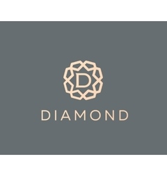 Premium letter d logo icon design luxury vector