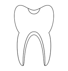 Tooth icon outline style vector