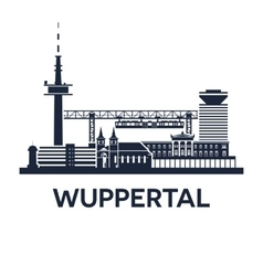 Wuppertal skyline emblem vector