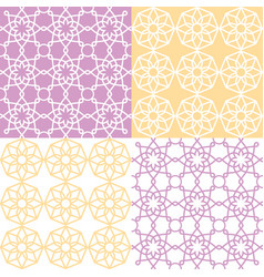 Geometric seamless pattern arabic ornament style vector