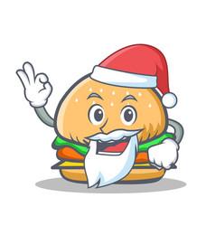 Santa burger character fast food vector