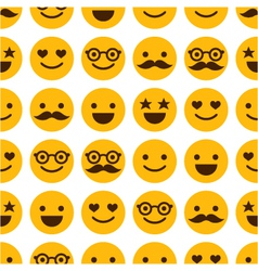 Seamless pattern with cheerful and happy smileys vector