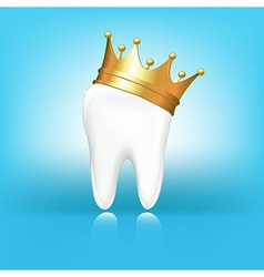 Tooth in crown vector