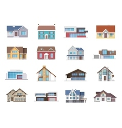 House icons flat vector