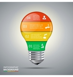 Lightbulb for infographic vector