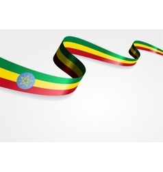 Ethiopian flag background vector