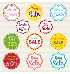 Promotion set of spring promotion discount sale vector