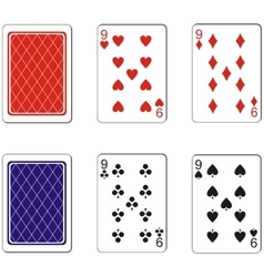 Playing card set 06 vector image
