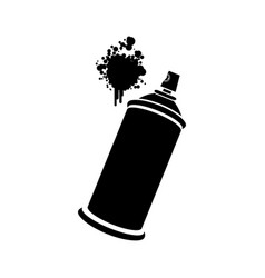 Aerosol sprays with a stain icon vector
