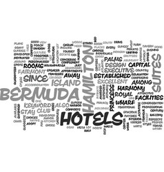 Bermuda hotels text word cloud concept vector