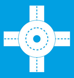 Big road junction icon white vector