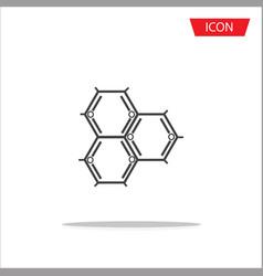 biochemistry icon atom icon vector image vector image