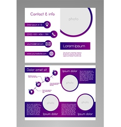 Business brochure template - purple and white vector image vector image