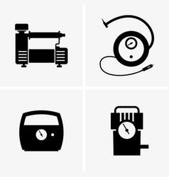 Car air pumps vector